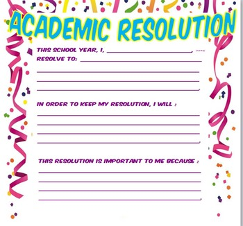 New School Year's Resolutions: Make This The Best Year Ever!