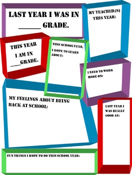 New School Year worksheet