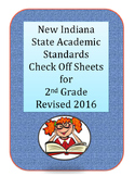 New Revised 2016 Second Grade Indiana State Standards Check Off Sheets
