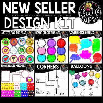 New Seller Clip Art Design Kit {Educlips Clipart}
