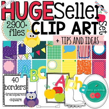 New Seller Clip Art BUNDLE 2900+ pieces