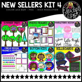 New Sellers Clip Art Kit 4 {Educlips Clipart}