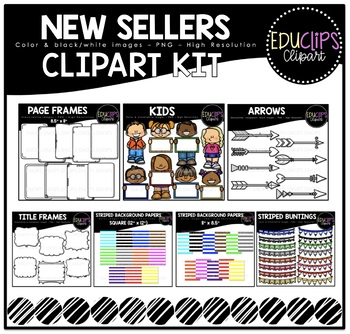 New Sellers Clip Art Kit {Educlips Clipart}