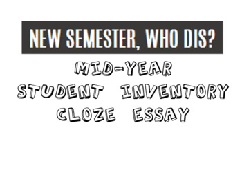 New Semester, Who Dis? Middle School Personal Survey