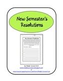 New Semester's Resolutions