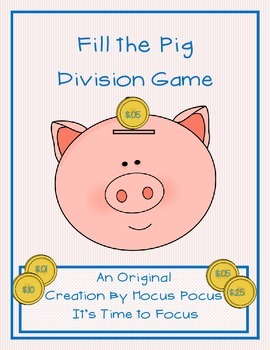 New Series Fill the Pig Division Game Original Creation 3rd-4th-5th B2S