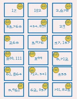 New Series Fill the Pig Place Value Game Original 3rd-4th-5th CCSS