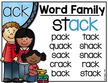 New Series: Word Family -ACK Literacy Stations