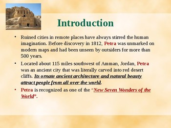 New Seven Wonders of the World - Ancient City of Petra