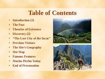 New Seven Wonders of the World - Machu Picchu