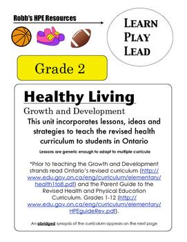 Sex Ed. Curriculum Grade 2 Unit