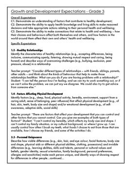 New Sex Ed. Curriculum Grade 3 Unit