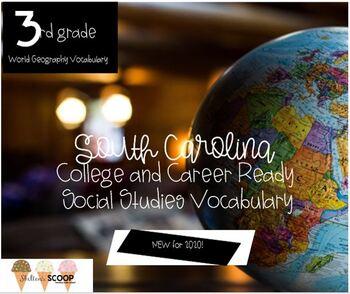 NEW for 2020 South Carolina 3rd Grade Social Studies Vocabulary Words