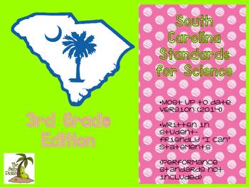New! South Carolina Science Standards 3rd Grade
