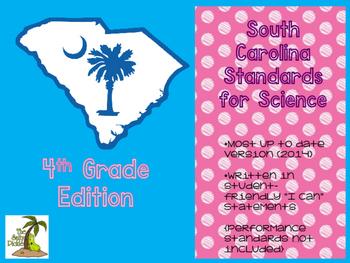 New South Carolina Science Standards 4th Grade