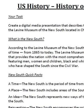 New South History Project