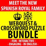 Spanish - New Spanish Royal Family - Webquest and Crossword BUNDLE!