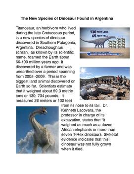 New Species of Dinosaur Found in Argentina