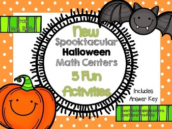 New Spooktacular Halloween Math Center Activities