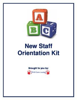 New Staff Orientation Kit