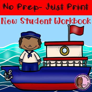 New Student Activity Pack/ Workbook- Enthused School Counselor