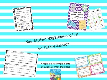 New Student Bag Items and List