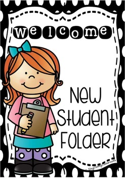 New Student Folder - Cover page, ideas & editable certificates