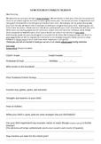 New Student Parent Information Sheet