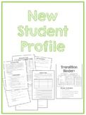 New Student Profile for Autism or Special Education Classrooms