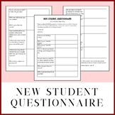 New Student Questionnaire for High School Students - 100%