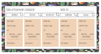New Student Tour Scheduler - Preschool & Childcare Directors