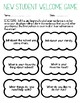 New Student Welcome Activity Game