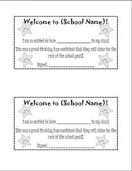 New Student Welcome Printable