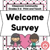 New Student Welcome Survey And Checklist