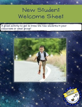 New Student Welcome Sheet