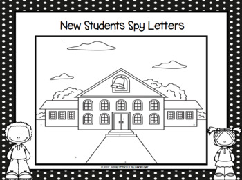 NO PREP Back to School Themed I Spy Letters Game