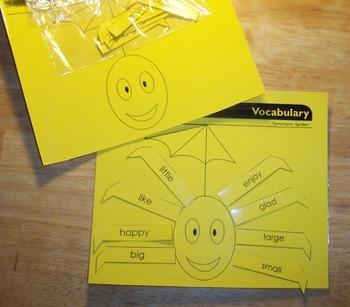 New Synonym Spider Vocabulary Game Literacy Center & Worksheet Ready to Use