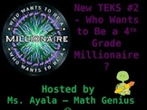 New TEKS #2 - 4th Grade Who Wants to Be... STAAR Review Quiz Game Show