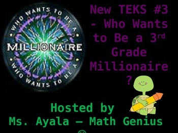 New TEKS #3 - 3rd Grade Who Wants to Be...STAAR Review Quiz Game Show