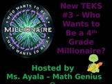 New TEKS #3 - 4th Grade Who Wants to Be... STAAR Review Quiz Game Show