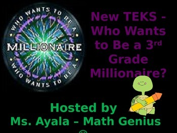 New TEKS - 3rd Grade Who Wants to Be A Millionaire STAAR Review Quiz Game Show