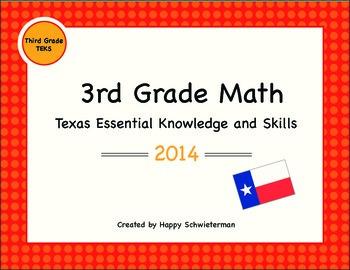 New TEKS for 3rd Grade- 2014