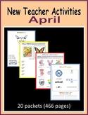 New Teacher Activities - April (First Year Teacher)
