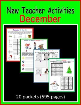 New Teacher Activities - December (First Year Teacher)