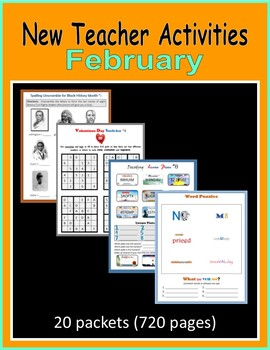 New Teacher Activities - February (First Year Teacher)