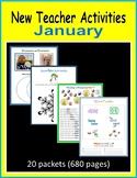 New Teacher Activities - January (First Year Teacher)
