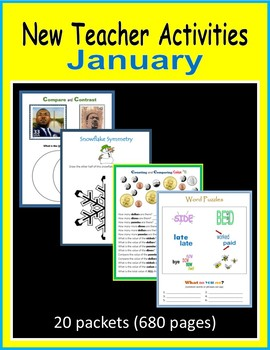 New Teacher Activities - January (First Year Teacher)