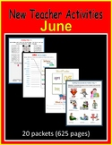 New Teacher Activities - June (First Year Teacher)