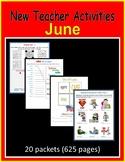 New Teacher Activities - June (First Year Teacher)