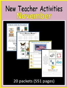 New Teacher Activities - November (First Year Teacher)